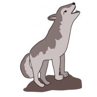 遠吠えするおおかみ・wolf ・Howling wolf
