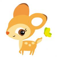 子鹿 こじか バンビ fawnイラスト