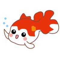 金魚・琉金・りゅうきん・リュウキンのキャライラスト Goldfish