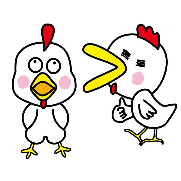 ニワトリ鶏chickenのキャラクターイラスト Characterfun