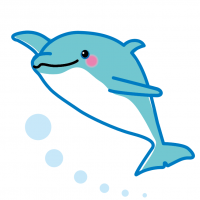 かわいいイルカ Cute dolphin Illustration · Character