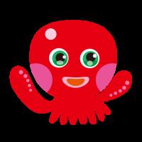 お茶目なタコ・たこ・octopus