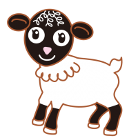 かわいい子羊 Cute lamb ヴァレーブラックノーズ Valley Black Nose