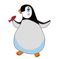 ペンギン(・Θ・) Penguin  皇帝ペンギン Emperor penguin   ひな  Little penguin